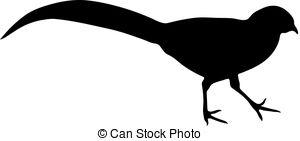 300x141 Black Pheasant Silhouette Clip Art Vector Graphics. 80 Black