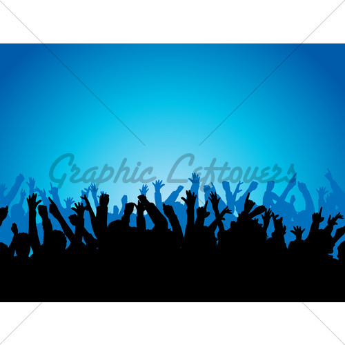 500x500 Party Crowd Gl Stock Images