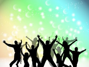 310x233 Abstract Colorful Party Silhouettes Free Vectors Ui Download