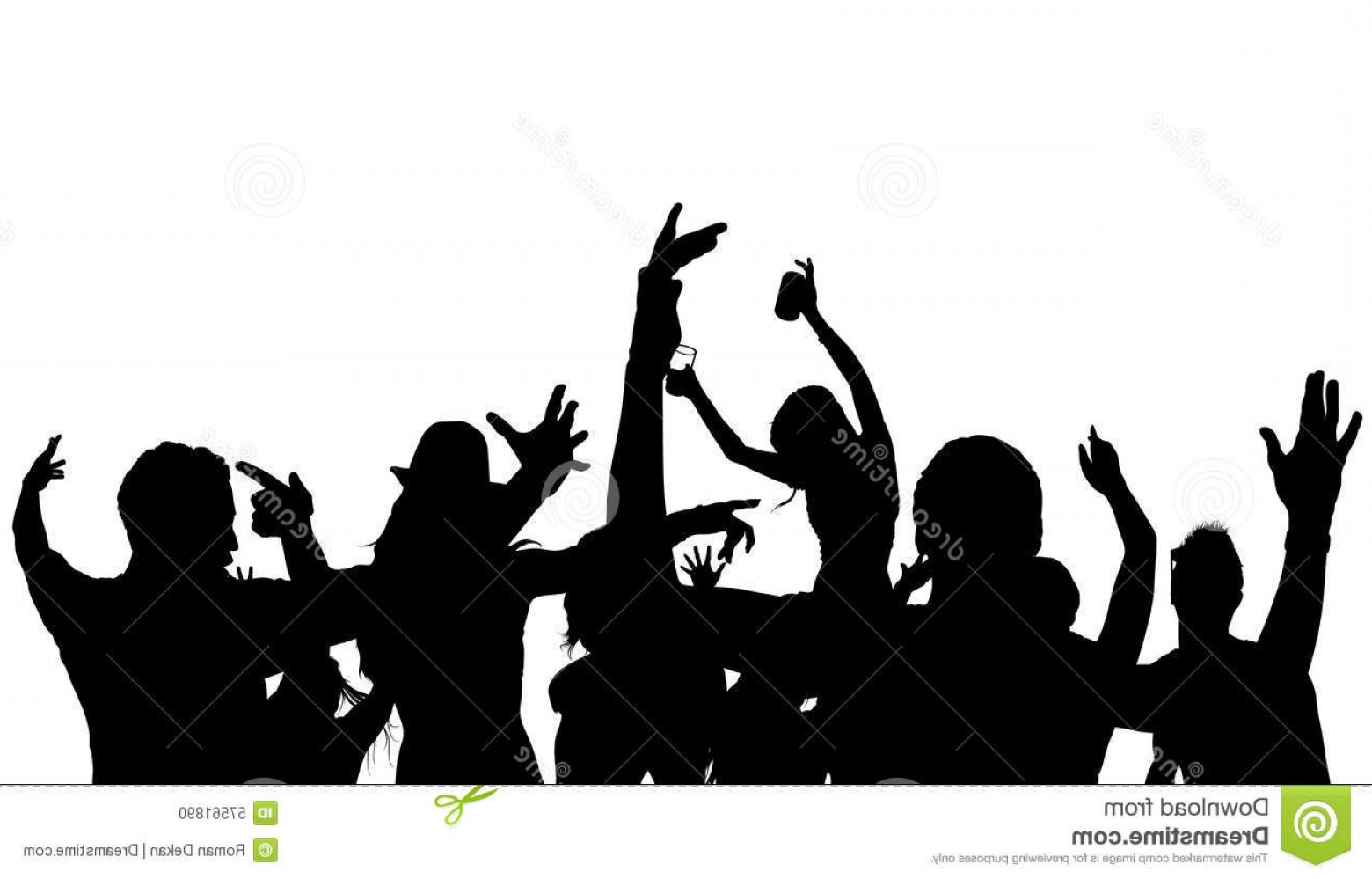 1560x999 Concert Crowd Silhouette Vector Arenawp