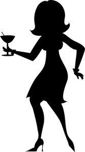 167x300 Girl Silhouette Girl Clip Art Images Party Girl Stock Photos