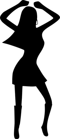 236x540 70's Disco Dancers Silhouettes Cutouts Birthday Party Dance