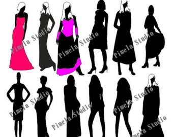 340x270 Buy 2 Get 1 Free Business People Digital Clip Art Silhouettes