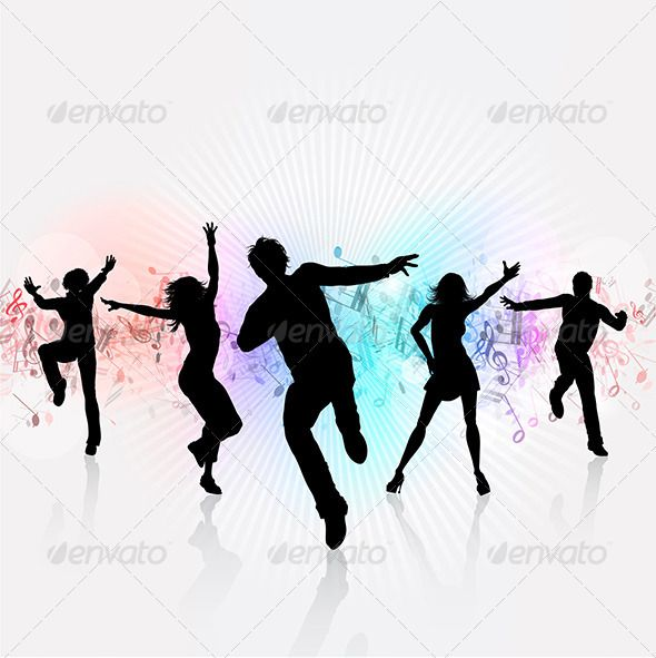 590x591 Party People Background Characters, Silhouettes And Abstract
