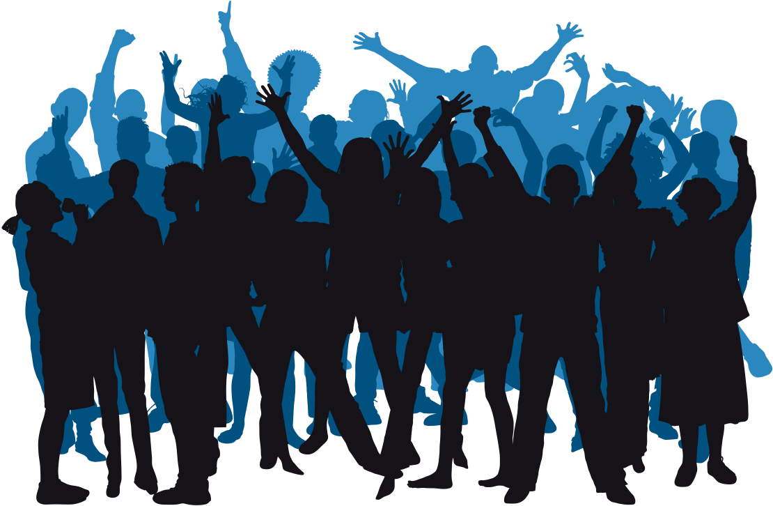 1110x726 Party People Silhouette Clipart Panda