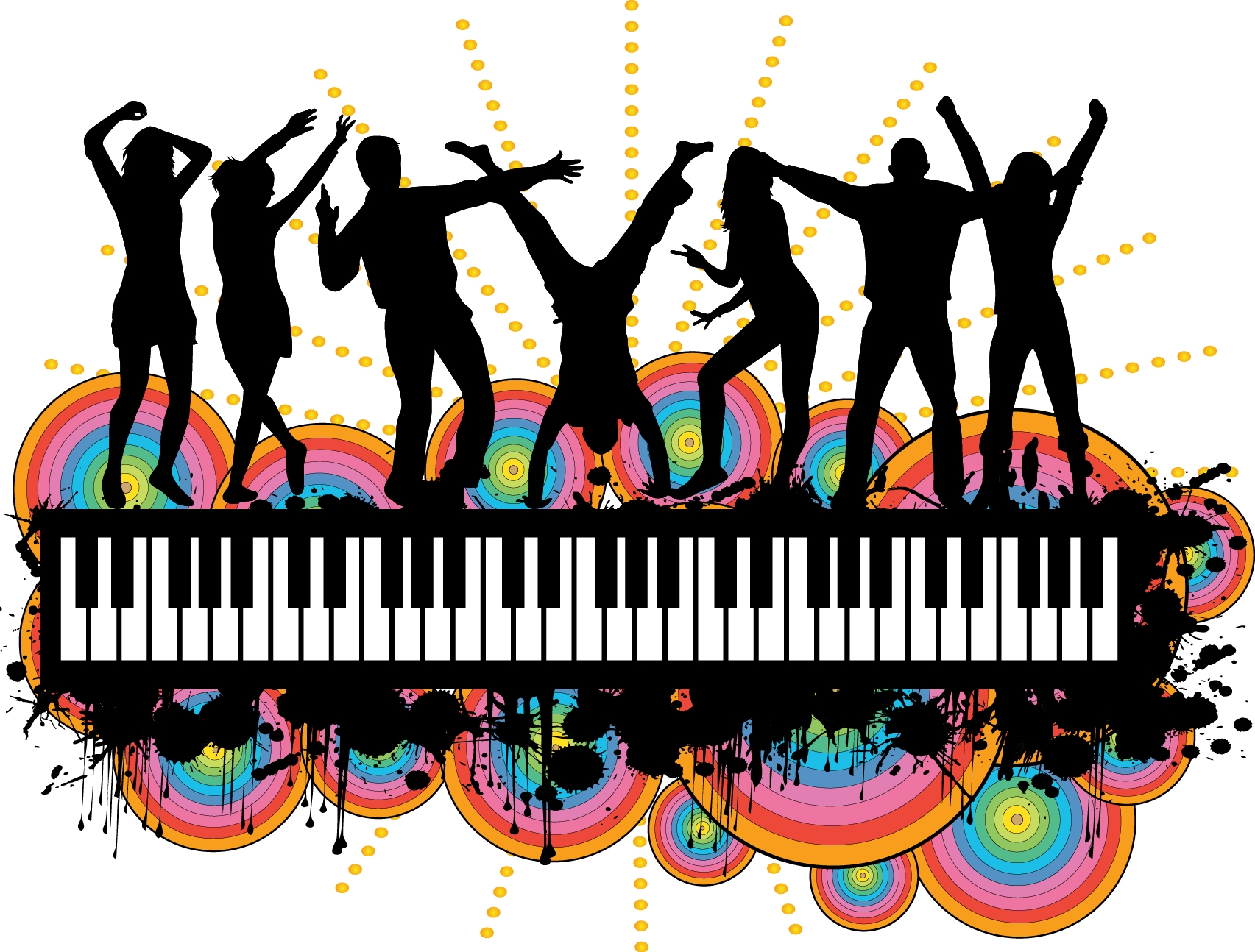 1705x1294 Party People Silhouette Clipart Panda Free Image Png. Snowjet.co