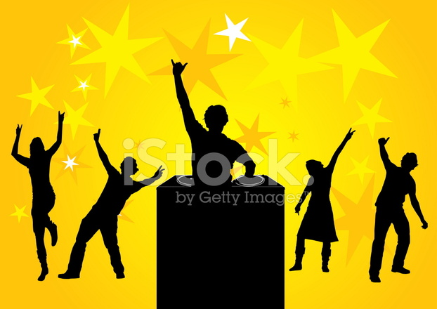 622x440 People Dancing At A Party Stock Vector