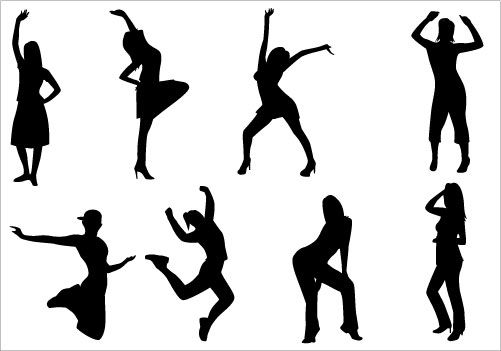 501x351 Dance Party Clip Art Pack Clip Art, Silhouettes And Dancing
