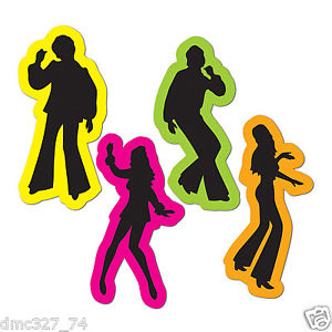 300x300 4) 70s Decade Party Decoration Disco Saturday Night Fever Cutouts