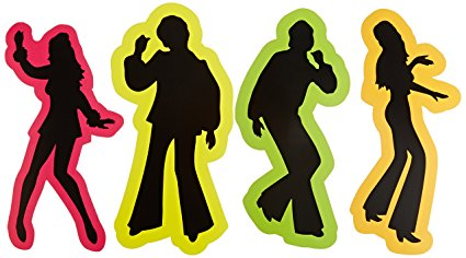 425x236 Retro 70's Silhouettes Party Accessory (1 Count) (4