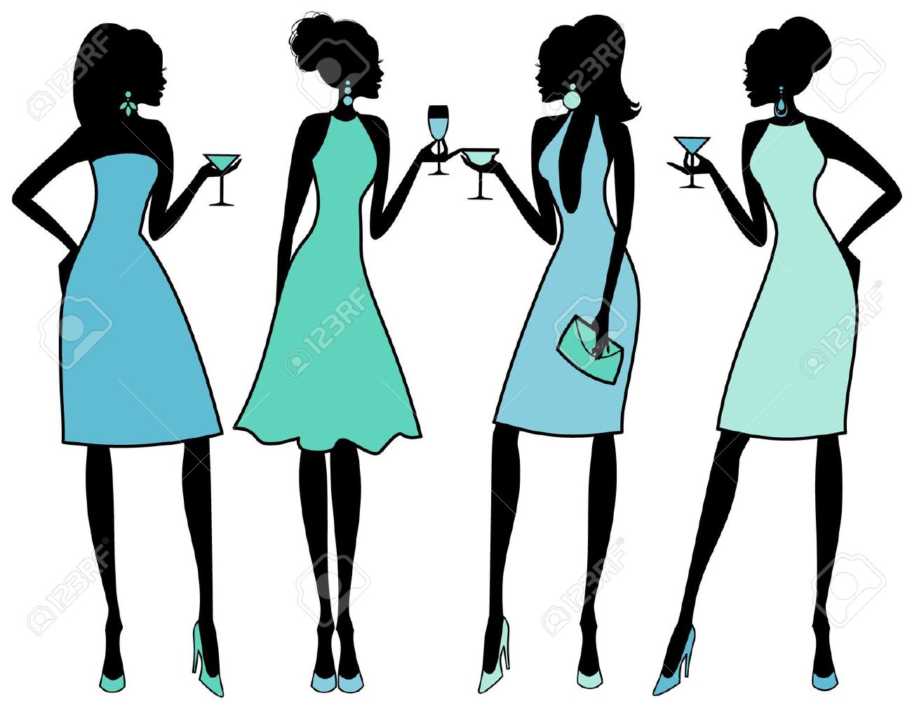 1300x1009 Party Silhouette Clipart