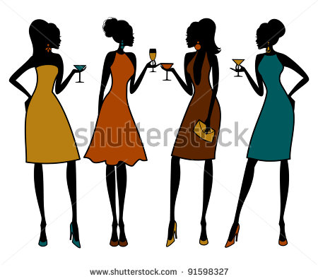 450x395 Party Clipart Group