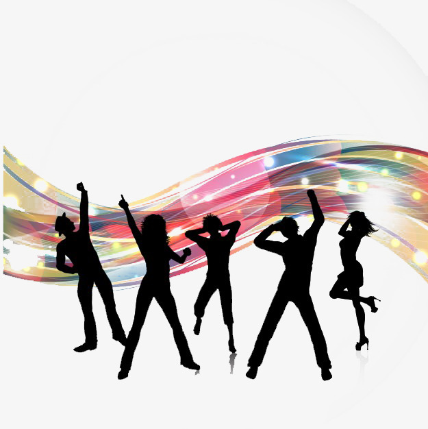 625x626 People Party Silhouette Background, Year End Party, Celebrate, Eat