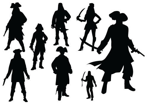 500x350 Pirate Silhouette Vector Download Pirate Man And Woman Woman