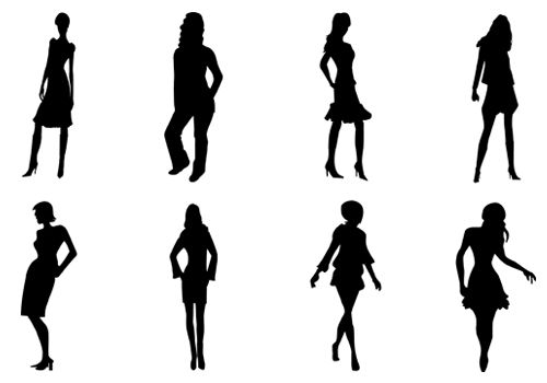 500x350 Women Silhouette Vector Ere Comes With Epspngjpeg Files Ideal