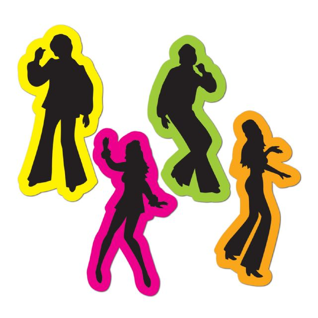 640x640 Disco Dancing Man Clip Art