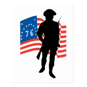 307x307 Patriot Silhouette Postcards Zazzle.co.nz