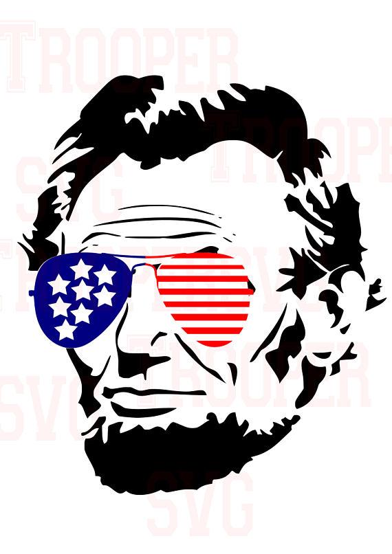 570x806 Lincoln Svg, Merica,glasses ,patriotic Svg, American Flag