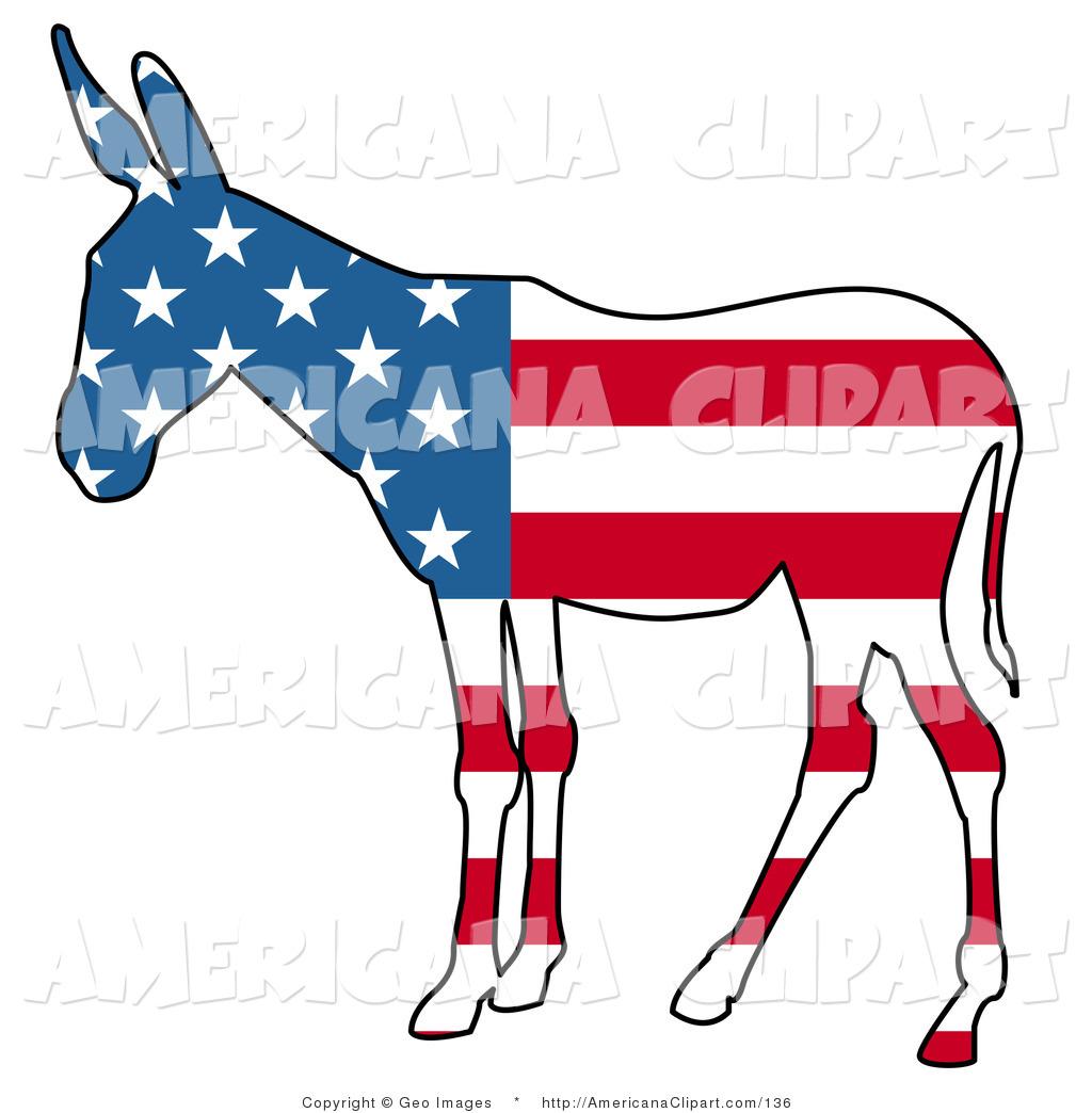 1024x1044 Americana Vector Clip Art Of A Patriotic Democratic Donkey
