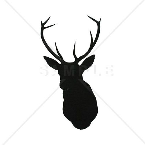 500x500 Deer Head Silhouette Counted Cross Stitch Pattern Deer Head