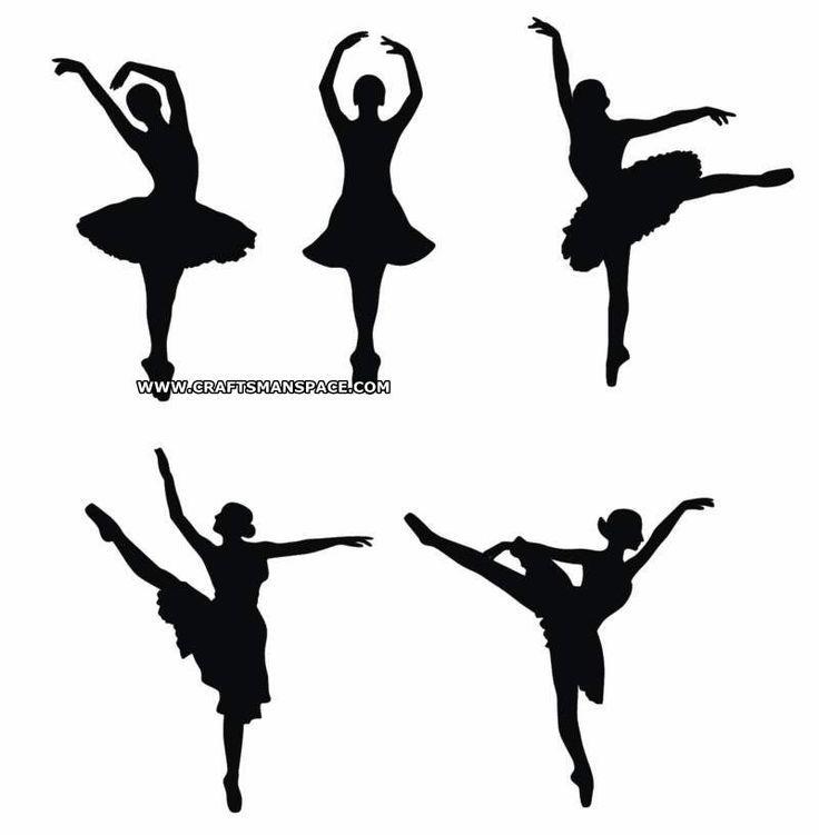 736x751 Ballerina Silhouette Patterns Kids Ballerina