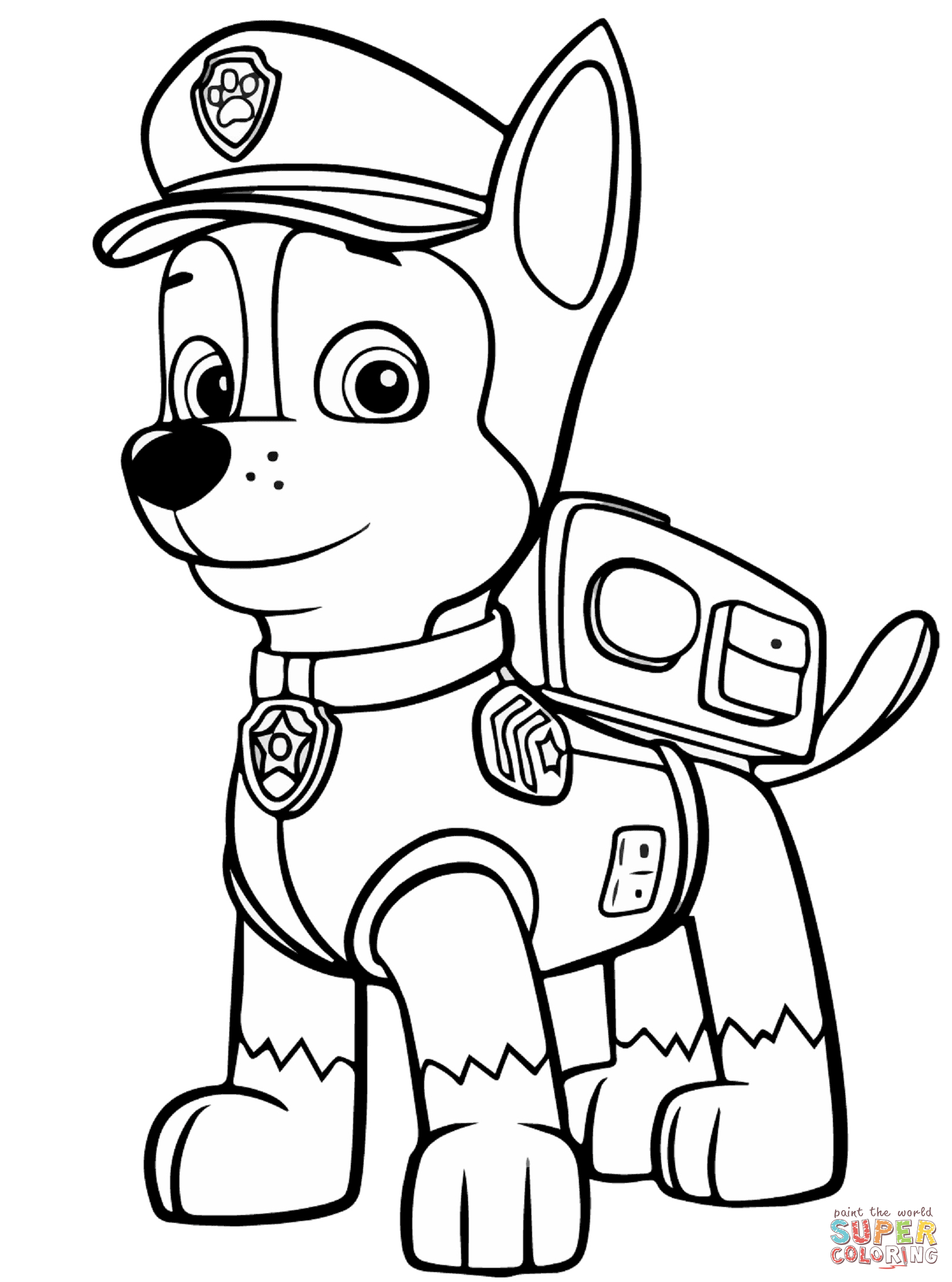 paw patrol chase silhouette at getdrawings  free for