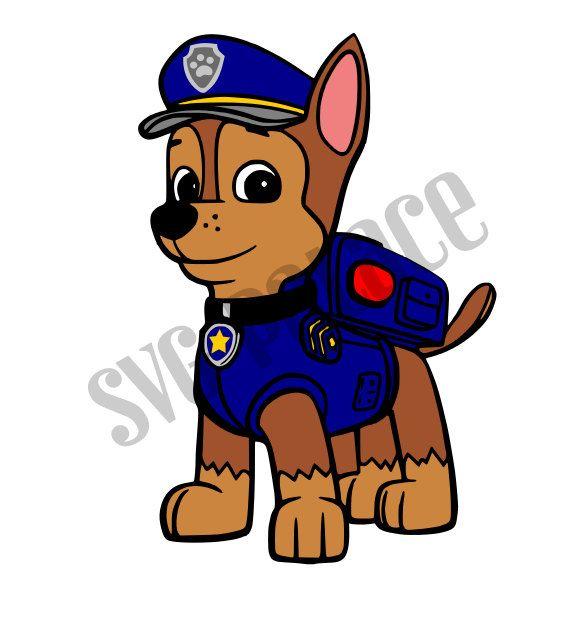 575x618 Paw Patrol Chase Pup Svg Cut File. Cricut Explore. Scal. Mtc