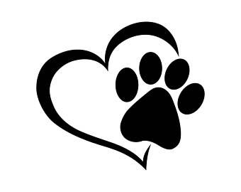 340x270 Paw Heart Dog Cat Love Pet Graphics Svg Dxf Eps Png Cdr Ai Pdf