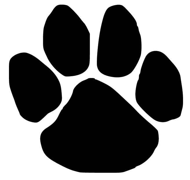 655x621 Paw Print Silhouette Dog Paw Print Wall Decal Decal Design Shop