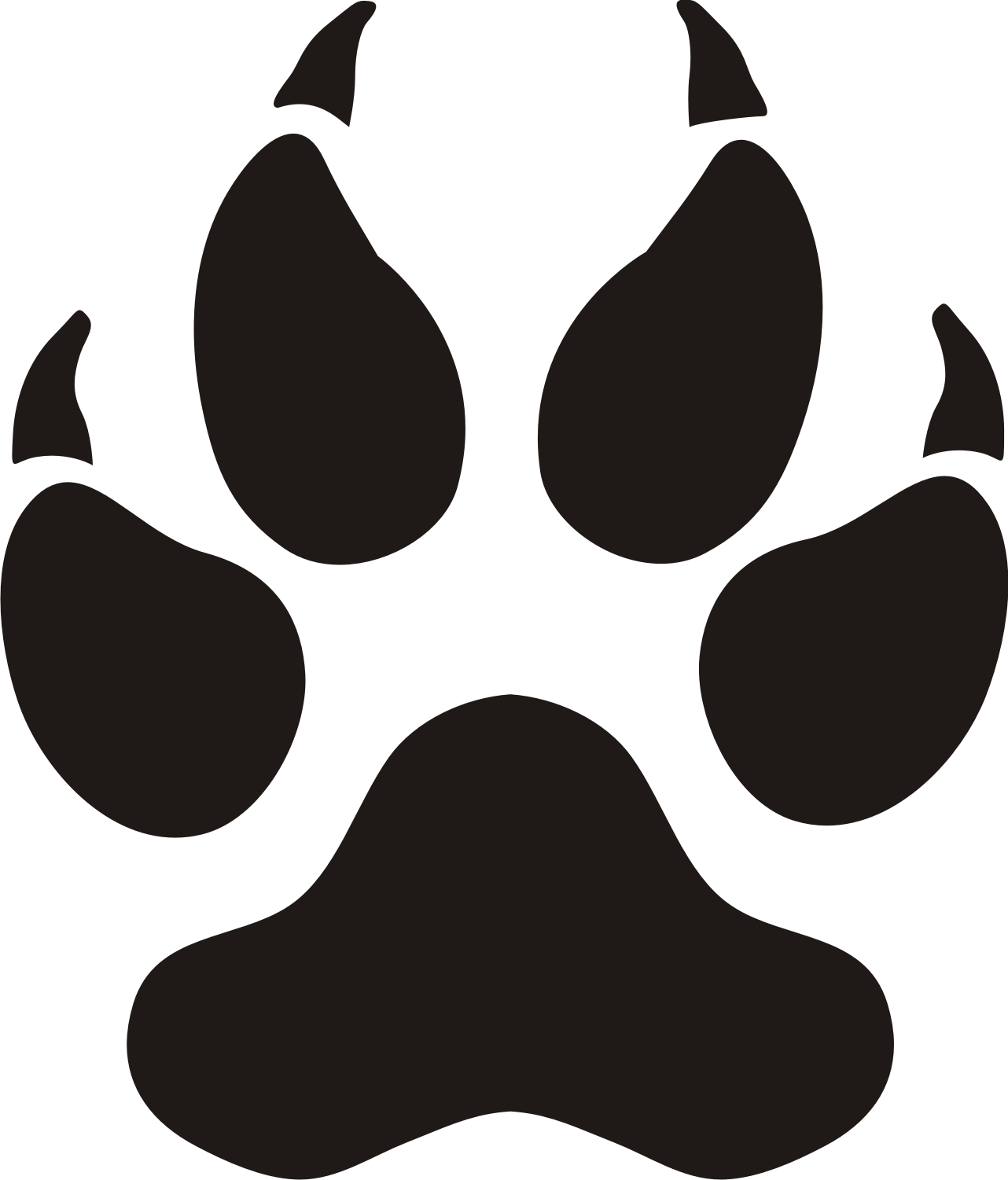 paw silhouette at getdrawings com free for personal use paw rh getdrawings com  red panther paw print clip art