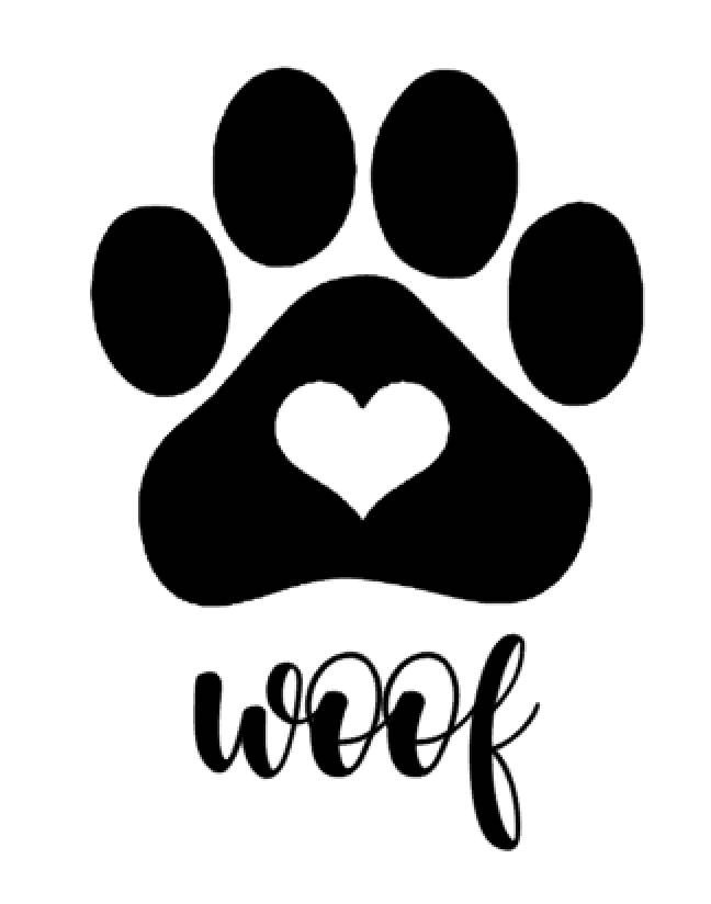 648x824 Woof Amp Paw Print Decal Treat Jar Decal Dog Decal Gifts