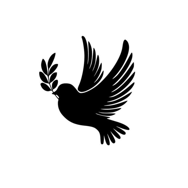 Peace Dove Silhouette