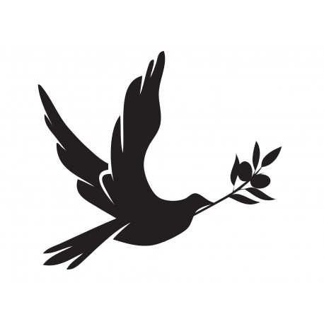 458x458 Peace Dove With Olive Branch Symbol Christian Wall Vinyl Decal