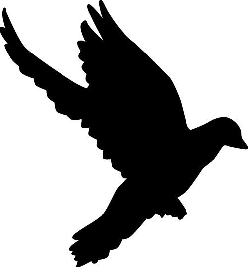 500x539 Peace Dove Silhouette Vector Illustration 01