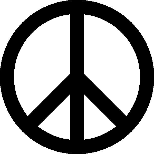 600x600 Peace Sign Clip Art