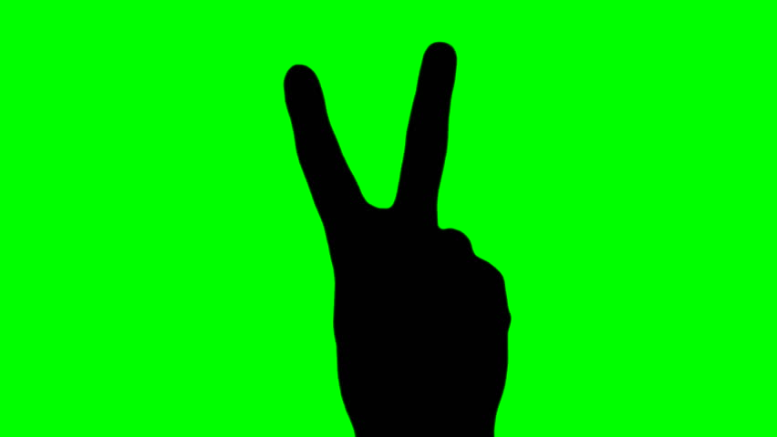 852x480 Peace Sign V2 Silhouette