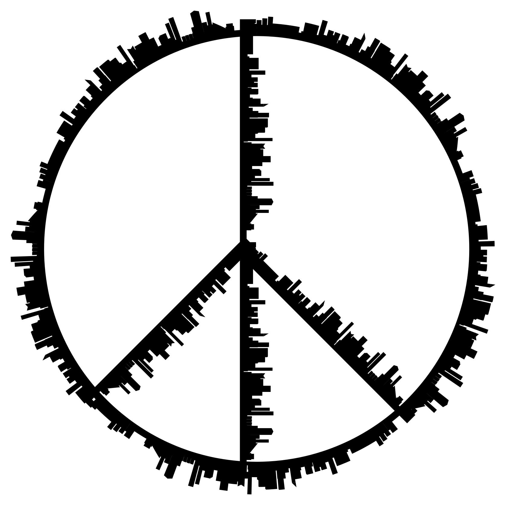 1676x1670 Peace Sign City Silhouette Clipart