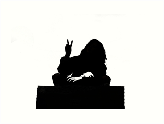 549x413 Peace Silhouette Banksy Style Art Prints By Marylawler123 Redbubble