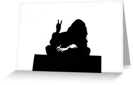441x283 Peace Silhouette Banksy Style Greeting Cards By Marylawler123