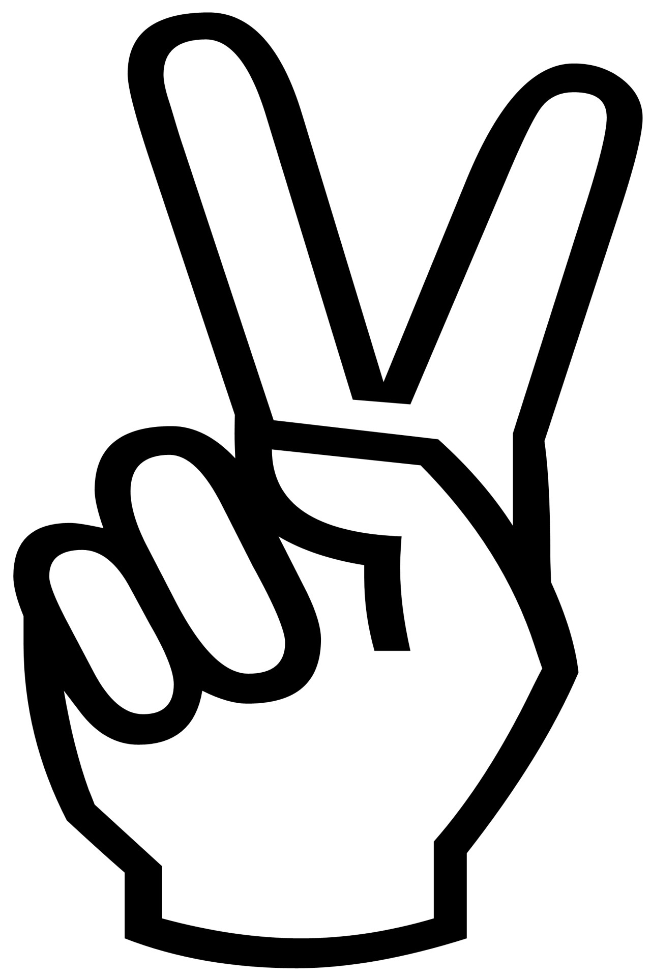 1280x1920 Victory Sign Silhouette Free Stock Photo