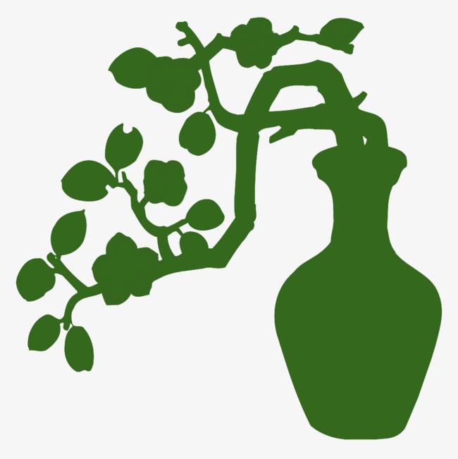 650x651 Peach Green Vase Silhouette, Peach Blossom, Green, Sketch Png