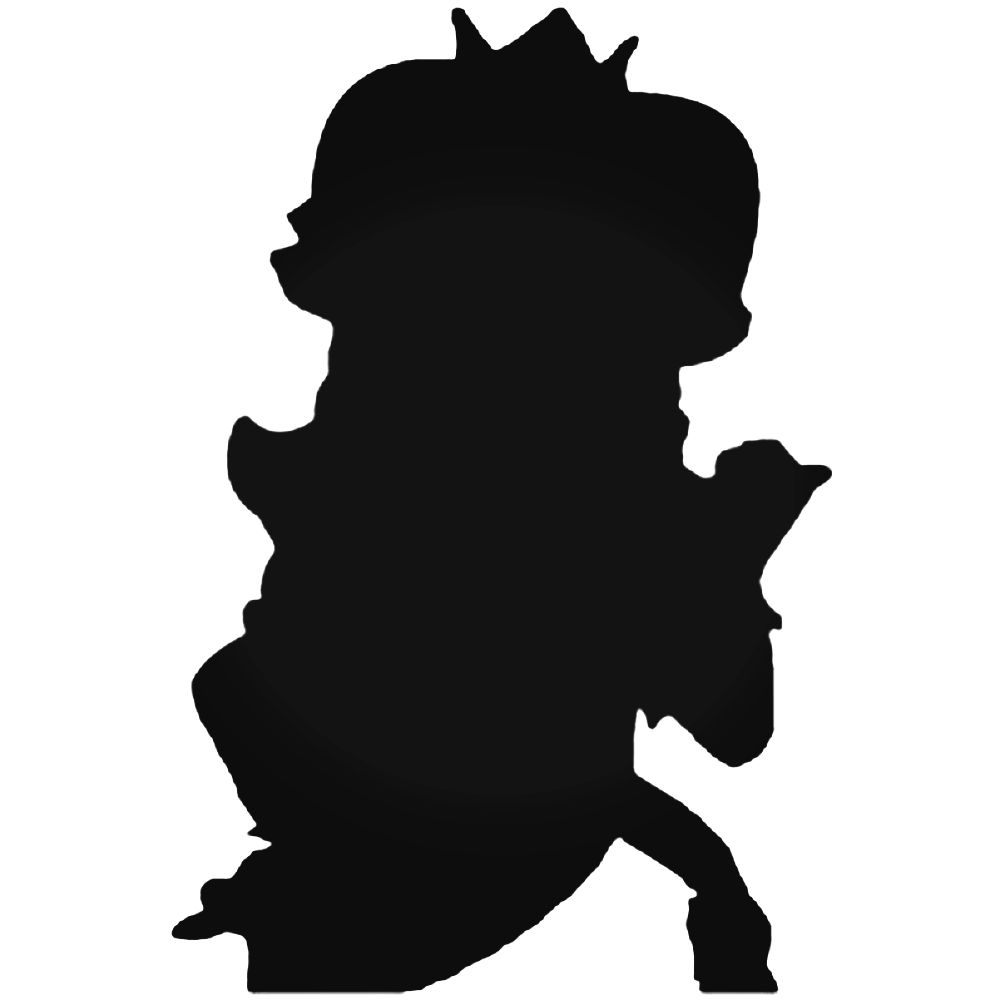 1000x1000 Bros Peach Silhouette Decal