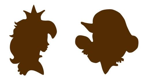 499x284 Mario And Princess Peach Silhouette Embroideries! Added Templates