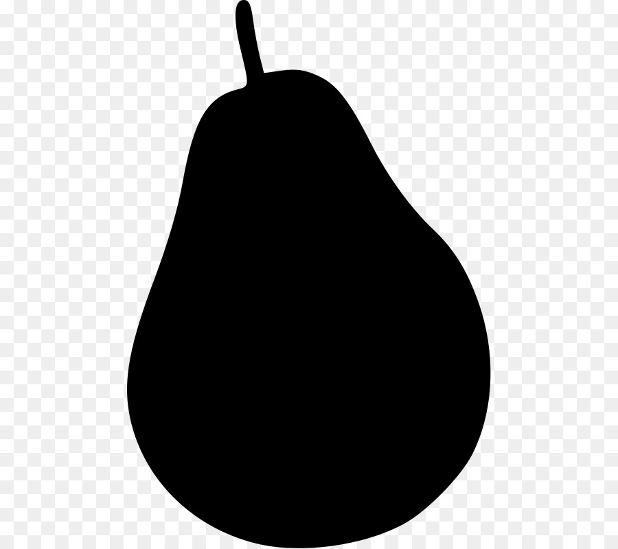 900x800 Black Worcester Pear Silhouette Clip Art