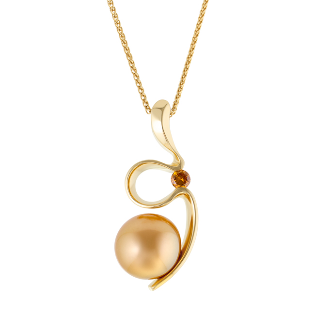 650x650 Silhouette Gold Pearl Pendant Pearl Necklaces Jewels