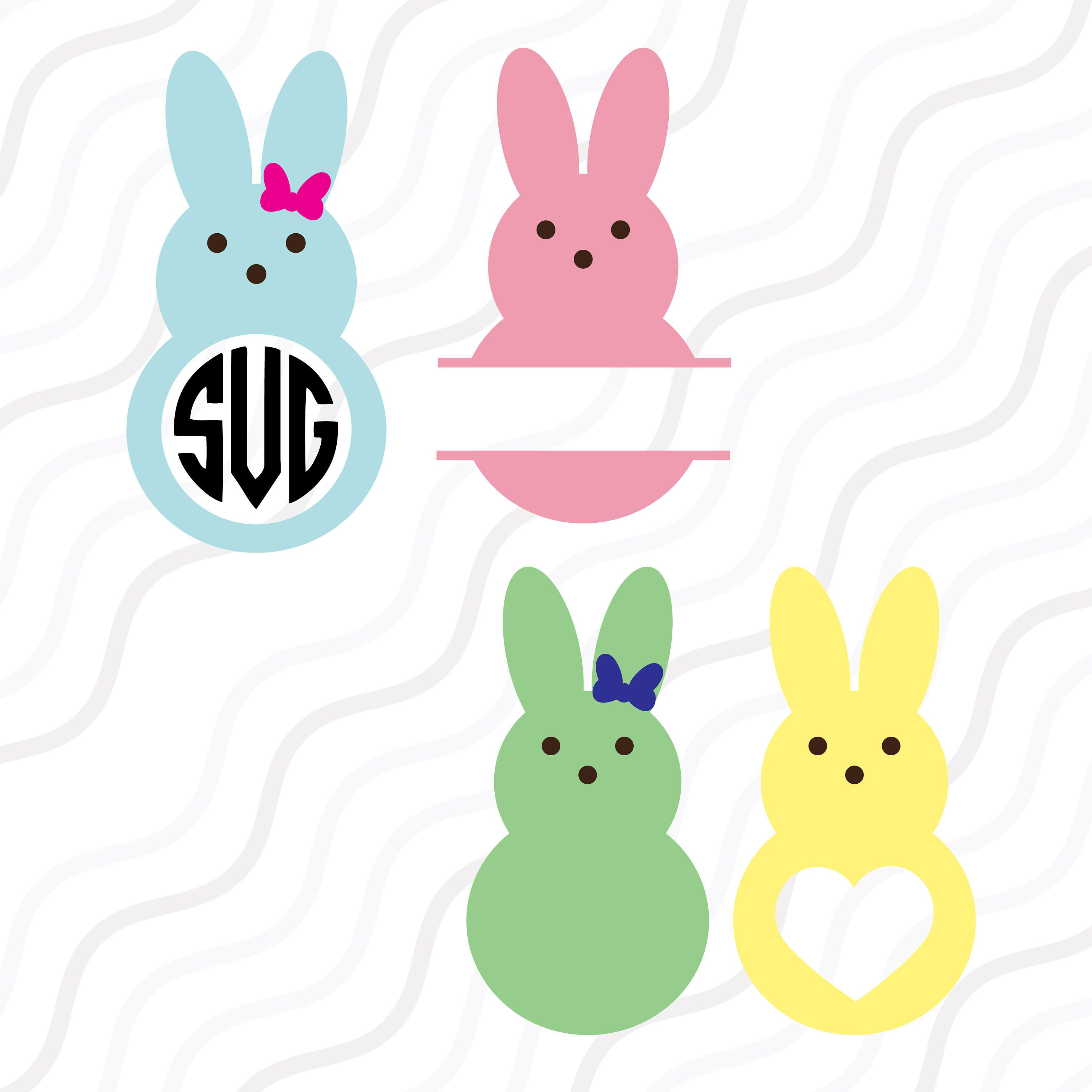 3000x3000 Peeps Svg, Bunny Svg, Easter Bunny Svg, Easter Svg Cut Table