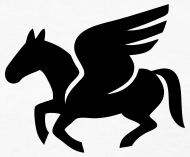 190x157 Pegasus Silhouette (Flying Horse) By Azza1070 Spreadshirt