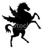 178x199 Pegasus Silhouette Stock Vectors