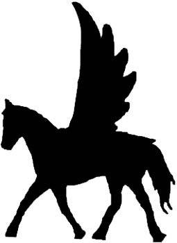255x350 Pegasus Side View In Silhouette Quiet Book Ideas