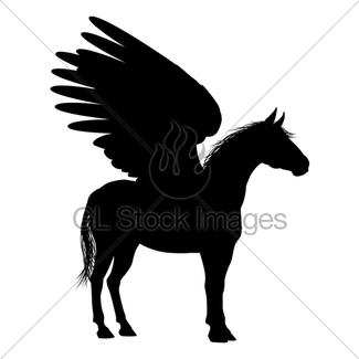 325x325 Silhouette Pegasus Gl Stock Images